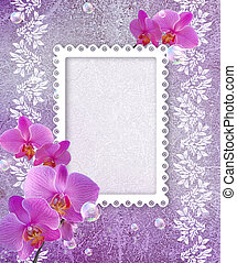 Orchid and openwork frame