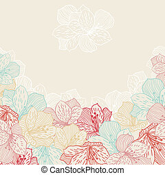 orchid., flor, abstratos, seamless, elegância, fundo
