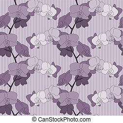 Orchid Flower Seamless Background
