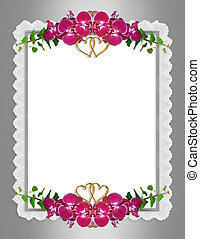 Orchids Wedding invitation elegant