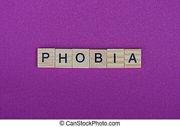 ord, fobi, breven, trä, grå, liten