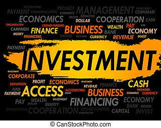 ord, investering, moln