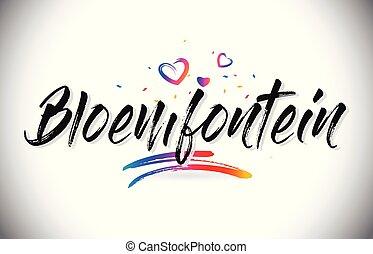ord, kärlek, bloemfontein, text, välkommen, skapande, design...