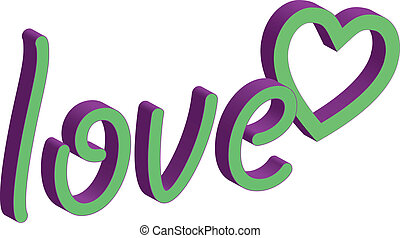 ord, kärlek, clipart