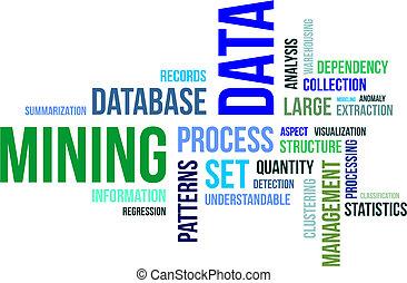 ord, moln, -, data, gruvdrift