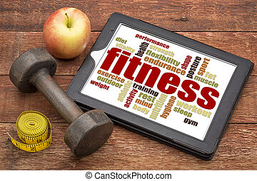 ord, moln, kompress,  fitness