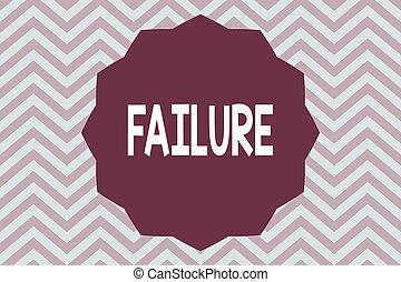 ord, skrift, text, failure., affärsidé, för, försumma, eller, omission, expected, nödvändig, handling, brist, av, framgång