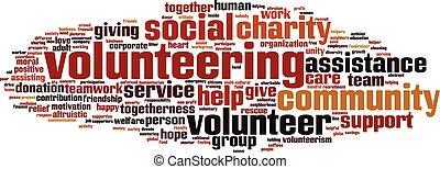 ord, volunteering, moln