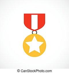 ordem, distinção, ouro, ícone