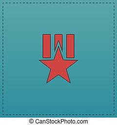 ordem, estrela, computador, símbolo