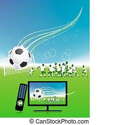 ordenación del fútbol, en, televisión, deportes, canal