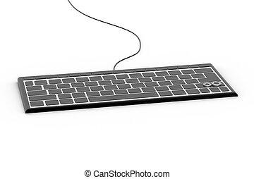 Escritorio blanco ordenador teclado computadora de - Foto teclado ordenador ...