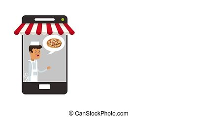 Order fast food online HD animation