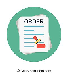 order flat icon