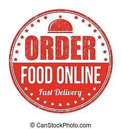 Order food online stamp - Order food online grunge rubber...