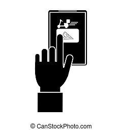 order food online website delivery pictogram