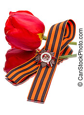Order, George ribbon and tulips