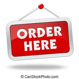 order here concept illustration