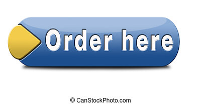 order here button on online internet webshop. Shopping icon...