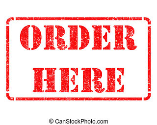 Order Here -  Red Rubber Stamp.