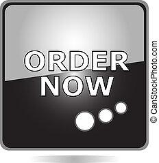 ORDER NOW black web button