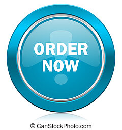order now blue icon