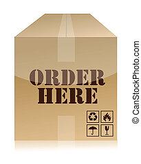 order now box illustration design