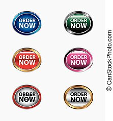 Order now button stickers and label