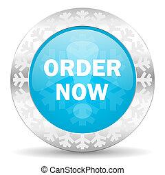 order now icon, christmas button