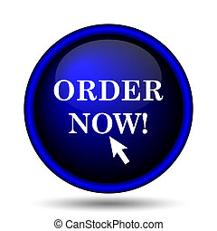 Order now icon. Internet button on white background.