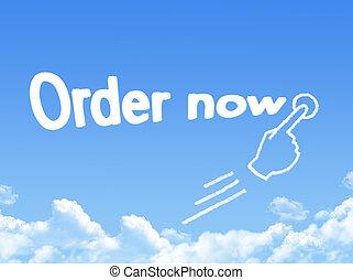 Order now message cloud shape
