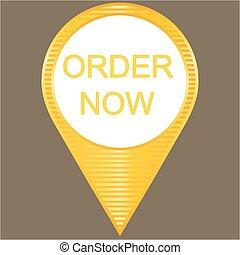 Order now, vector illustration