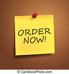 order now words on post-it