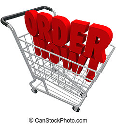 Order Now Words Shopping Cart Purchase e-Commerce Buy Store