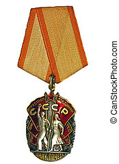 Order of the Badge of Honour on a white background