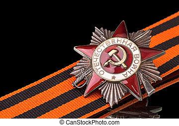Order of the Patriotic War on black