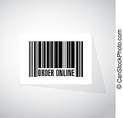Order online barcode sign concept