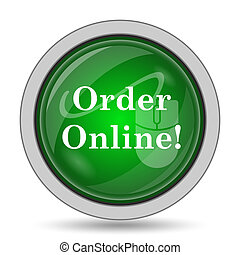 Order online icon. Internet button on white background.