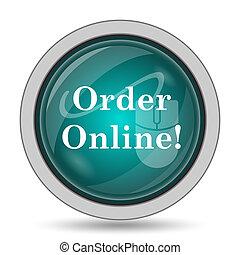 Order online icon, website button on white background.