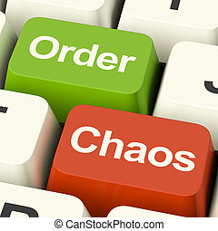 Order Or Chaos Keys Shows Either Organized Or Unorganized