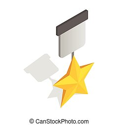 Order with star icon, isometric 3d style
