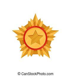 order., złoty, odwaga, medal., gwiazda, złoty, armia, ...