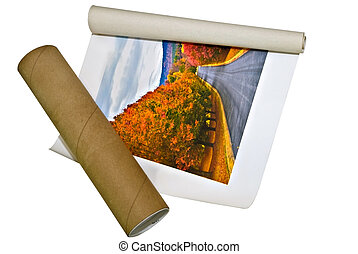 Ordering a Photo Print - A canvas picture with the cardboard...