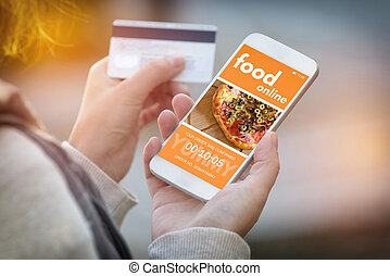 Ordering food online by smartphone