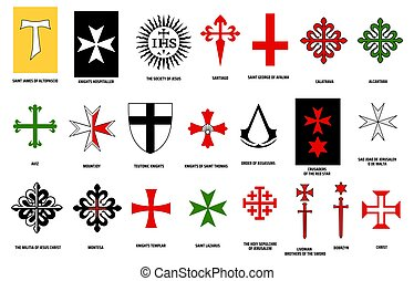 Orders of chivalry, heraldry of medieval knights