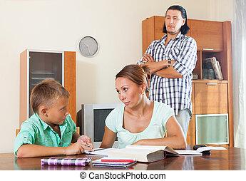 ordinaire, famille, devoirs