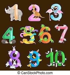 ordinal, 能力, セット, 動物, abc, アルファベット, イラスト, 学校, コレクション, ∥あるいは...