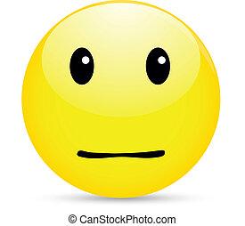 ordinary smiley icon on white