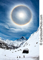 Ordinary wonder - Halo visible around the sun in the blue...