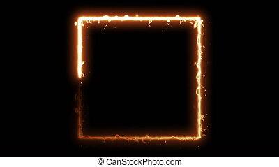 ordinateur a engendré, résumé, carrée, rendre, noir, brûler,...